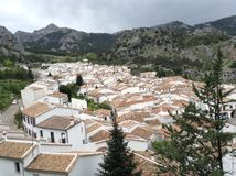 Spanish Buildings. Building, mostly apartment complexes, aerial view in Stock Photography