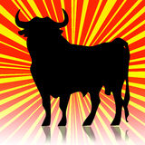 Spanish bull. Background with the tipical spanish bull Stock Image