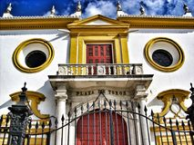 Spanish bull ring in seville Royalty Free Stock Photography