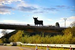 Spanish bull sign stock photos