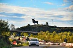 Spanish bull sign Stock Photo