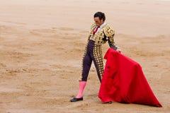 Spanish bullfighter. BARCELONA - JUNE 6: Corrida (bullfighting) of bulls, typical Spanish tradition where a torero (bullfighter) kills a bull. In the picture Stock Images