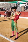 The Spanish Bullfighter Antonio Ferrera initiating the bullring in Baeza Stock Photos