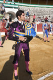The Spanish Bullfighter Cayetano Rivera at the paseillo or initial parade Royalty Free Stock Photos