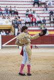 Spanish bullfighter Cesar Jimenez in the alley waiting at the pa Stock Photo