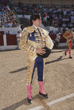 The spanish bullfighter Curro Diaz at the paseillo or initial parade Stock Photos