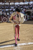 Spanish bullfighter Curro Diaz at the paseillo or initial parade in Ubeda Stock Photo