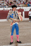 The Spanish Bullfighter El Fandi initiating the paseillo in the bullring in Linares Royalty Free Stock Photos