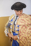 Spanish bullfighter Francisco Rivera putting itself the walk cap Stock Photo