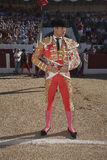 The spanish bullfighter Jose Maria Manzanares at the paseillo or initial parade Stock Photography