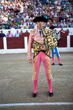 The Spanish Bullfighter Jose Tomas initiating the paseillo in the bullring in Linares Royalty Free Stock Photography