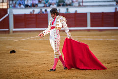 The Spanish bullfighter Juan Jose Padilla Bullfight at Pozoblanco bullring Stock Images
