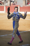 The Spanish Bullfighter Julian Lopez El Juli to the turning of honour Royalty Free Stock Photos