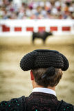 Spanish Bullfighter looking bullfighting Royalty Free Stock Photo