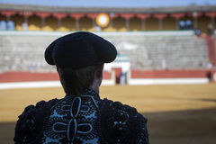 Spanish Bullfighter looking bullfighting in Jaén, Andalusia, S Royalty Free Stock Photo
