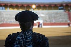 Spanish Bullfighter looking bullfighting in Jaén, Andalusia, S Royalty Free Stock Photo