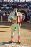 Spanish bullfighter Manuel Jesus El Cid at the paseillo or initial parade in Ubeda Stock Image