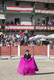 Spanish bullfighter Miguel Abellan with the cape, Spain Royalty Free Stock Photo