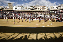 Spanish bullfighter at the paseillo or initial parade in Ubeda Stock Photos