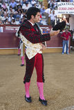 The spanish bullfighter Salvador Vega at the paseillo or initial parade Stock Images