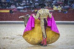 The Spanish Bullfighter Sebastian Castella during a rainy aftern Stock Images