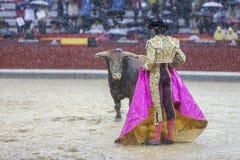 The Spanish Bullfighter Sebastian Castella during a rainy aftern Stock Image