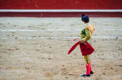 Spanish bullfighter waving with his cap Royalty Free Stock Photos