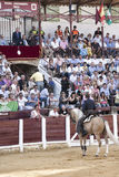 Spanish bullfighters Fermin Bohorquez asks the president of the Royalty Free Stock Image