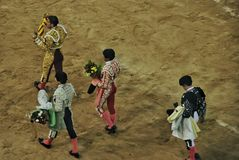 Spanish bullfighting royalty free stock photo