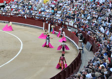 Spanish bullfighting festival Stock Image