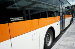 Spanish bus Stock Images