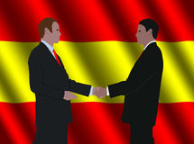 Spanish business men meeting Royalty Free Stock Photography