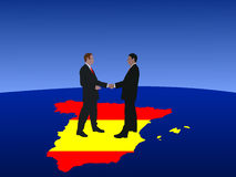 Spanish business men meeting Royalty Free Stock Photos