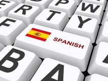 Spanish button on keyboard Stock Photography
