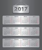 2017 Spanish calendar Stock Image