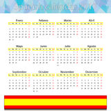 Spanish calendar 2017. This is vector illustration ideal for printing, web and app, printing house stock illustration