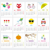 Spanish Calendar 2017. Week starts on Monday Stock Images