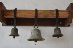 Spanish-Californian Mission Bells. A variety of Church Bells from Mission San Luis Rey Royalty Free Stock Images