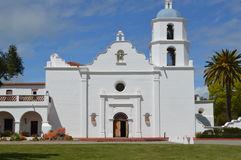 Spanish-Californian Mission San Luis Rey. Entrance to Church of the Spanish Californian San Luis Rey Mission Royalty Free Stock Image