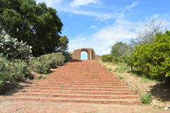 Spanish-Californian Mission Stairs. Stairs of the Spanish Californian San Luis Rey Mission Stock Photo