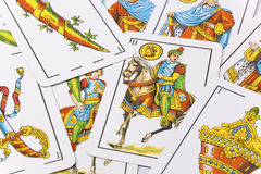 Spanish cards. In white background Stock Photos