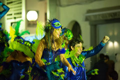 Spanish carnival at Sitges in night.  Catalonia, Spain Stock Image