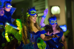Spanish carnival at Sitges Royalty Free Stock Photography