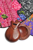 Spanish castanets and hand fan Royalty Free Stock Photography