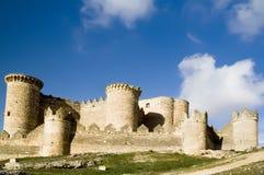 Spanish Castle. Belmonte Castle (Castillo de Belmonte) in Belmonte, Cuenca province, Castilla La Mancha, Spain.  Located approximately 150km southeast of Madrid Royalty Free Stock Images