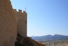 Spanish castle Castalla, Alicante. Stock Photo