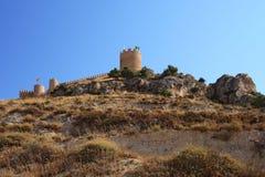 Spanish castle Castalla, Alicante. Stock Photos