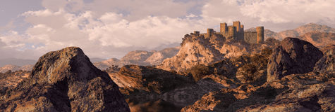Spanish Castle Fortress. Castle fortress in the mountains of Spain Royalty Free Stock Photography