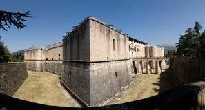 Spanish Castle in L'Aquila (Italy) Stock Images