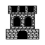 Spanish castle shield isolated icon Royalty Free Stock Photography